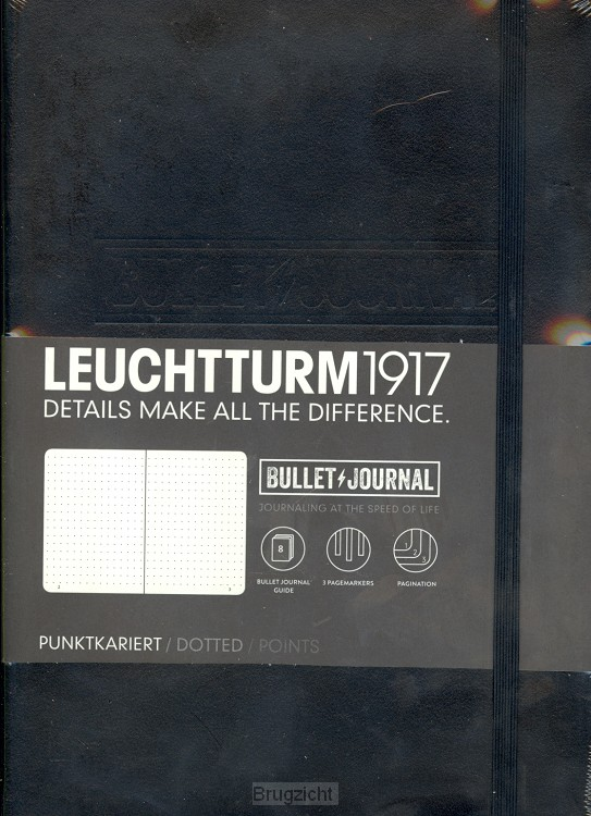 Bullet Journal black, dotted