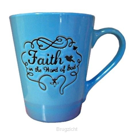 Mug faith sky blue