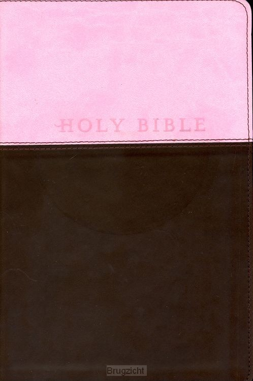 Holy Bible - NLT (pink/brown)