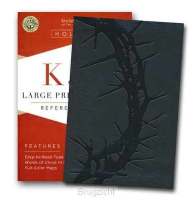 KJV LP compact ref bible charcoal leathe