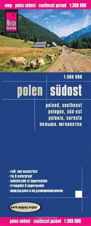 Reise Know-How Landkarte Polen, Südost 1 : 360.000