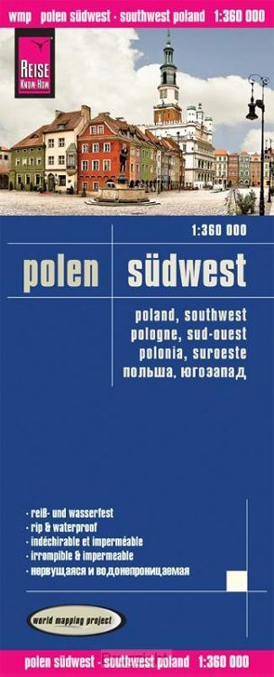 Reise Know-How Landkarte Polen, Südwest 1 : 360.000