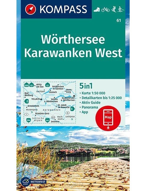 Wörthersee, Karawanken West 1:50 000