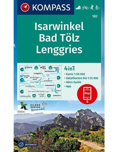 Isarwinkel, Bad Tölz, Lenggries 1:50 000